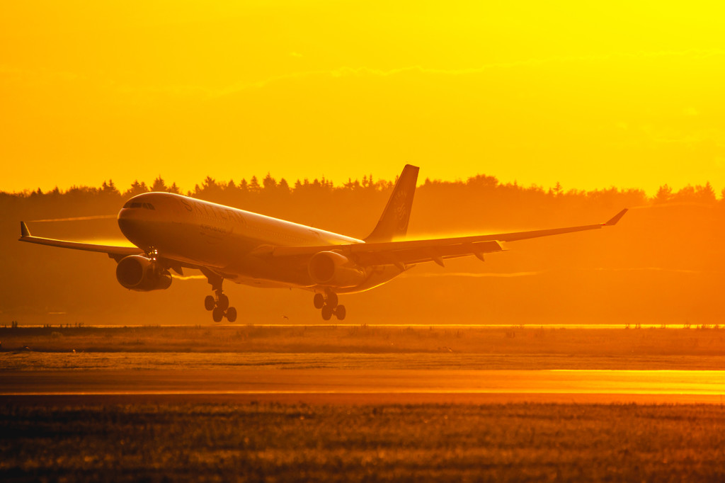 Aeroflot_Airbus_A330_sunrise_landing_at_SVO
